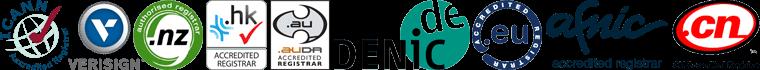 Instra Accredited TLDs, ICANN, Verisign, NZ Registry, HK Registry, AUDA, DENIC Registry, EU Registry, AFNIC Registry, CN Registry